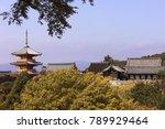 A Three Storied Pagoda At The...
