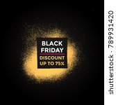grunge gold square shape spray... | Shutterstock . vector #789931420
