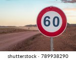 a speed limit sign in the... | Shutterstock . vector #789938290