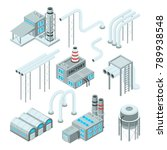 factory pipe and set of... | Shutterstock .eps vector #789938548