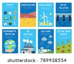 concept infographic cards at... | Shutterstock .eps vector #789938554