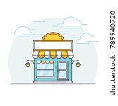 storefront in flat style. flat... | Shutterstock .eps vector #789940720