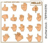 cartoon gestures showed by... | Shutterstock .eps vector #789944590