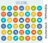 big seo icon set | Shutterstock .eps vector #789944806