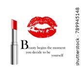 beauty poster with metallic...   Shutterstock .eps vector #789945148