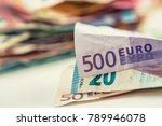 euro money euro banknotes euro... | Shutterstock . vector #789946078