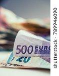 euro money euro banknotes euro... | Shutterstock . vector #789946090