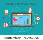 return on investment ... | Shutterstock .eps vector #789952858