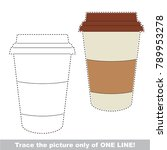 coffee paper cup to be traced... | Shutterstock .eps vector #789953278