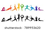 detailed colorful silhouette... | Shutterstock .eps vector #789953620