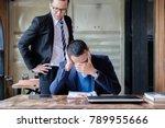 stressed asian business man...   Shutterstock . vector #789955666
