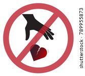 do not leave the heart | Shutterstock .eps vector #789955873