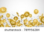 background with falling gold... | Shutterstock .eps vector #789956284