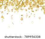 white background with falling... | Shutterstock .eps vector #789956338