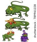 lovely reptiles illustration | Shutterstock .eps vector #789961228