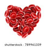 heart of red blood cells... | Shutterstock . vector #789961339
