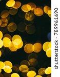 holiday night lights bokeh... | Shutterstock . vector #789961690