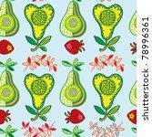fruit seamless pattern | Shutterstock .eps vector #78996361