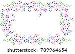 frame of bright splashes of... | Shutterstock .eps vector #789964654