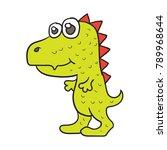 tyrannosaurus vector cute   Shutterstock .eps vector #789968644