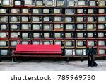 retro style old television from ... | Shutterstock . vector #789969730