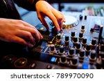 beautiful photo of black dj... | Shutterstock . vector #789970090
