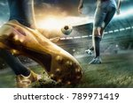 the soccer football players at... | Shutterstock . vector #789971419