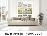 idea of white room with sofa... | Shutterstock . vector #789973864