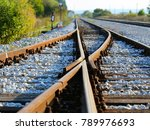 railroad steel brown | Shutterstock . vector #789976693