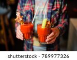 guy in the plaid shirt is... | Shutterstock . vector #789977326