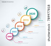 time line info graphic with... | Shutterstock .eps vector #789977818