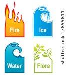 label  emblem  design elements | Shutterstock .eps vector #7899811