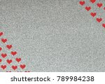 shiny background as valentines... | Shutterstock . vector #789984238