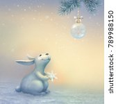 fabulous winter illustration... | Shutterstock . vector #789988150