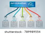 modern infographics options... | Shutterstock .eps vector #789989554