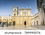 cathedral and monument in city... | Shutterstock . vector #789990076