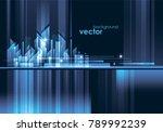 abstract modern night city... | Shutterstock .eps vector #789992239