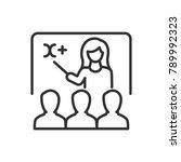 training. teacher at the... | Shutterstock .eps vector #789992323
