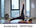 young woman yoga practitioner... | Shutterstock . vector #789997060