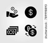 bank vector icons set. coin ... | Shutterstock .eps vector #789998893
