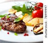 Gourmet Grilled Steak Flavoure...