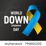 world down syndrome day logo ... | Shutterstock .eps vector #790001320