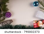 new year and christmas... | Shutterstock . vector #790002373