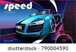vector illustration. detailed... | Shutterstock .eps vector #790004590