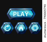 set of blue space buttons for...