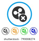 cancel ripple rounded icon.... | Shutterstock .eps vector #790008274