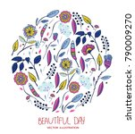 beautiful vector background... | Shutterstock .eps vector #790009270