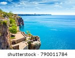 viewing and resting terrace on... | Shutterstock . vector #790011784