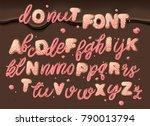 donut font. vector.  | Shutterstock .eps vector #790013794