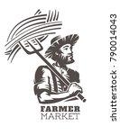 emblem  fresh local produce.... | Shutterstock .eps vector #790014043